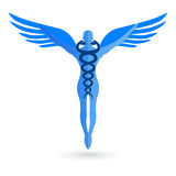 Caduceus. Illustration of caduceus design isolated on white background Royalty Free Stock Images