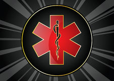 Caduceus background Royalty Free Stock Photography