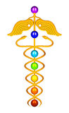 Caduceus Chakras Stock Photo