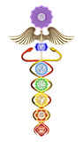 Caduceus Chakras Stock Images