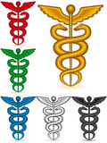 Caduceus collection Stock Image