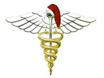 Caduceus do Natal Fotos de Stock