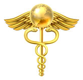 Caduceus Globe Medical Symbol Concept Stock Photo
