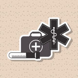 Caduceus icon design Royalty Free Stock Images