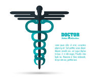 caduceus icon. Medical and Health care design. Vector graphic Stock Photography