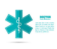caduceus icon. Medical and Health care design. Vector graphic Royalty Free Stock Images
