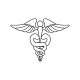 Caduceus icon. Medical and Health care. Vector graphic Royalty Free Stock Image