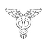 Caduceus icon. Medical and Health care. Vector graphic Royalty Free Stock Images