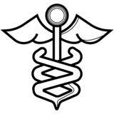 Caduceus icon. Medicine and health care vector illustration