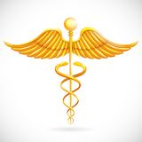 Caduceus médico do símbolo Foto de Stock