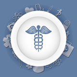 Caduceus Medical first aids. Medical first aids icon vector illustration graphic design Royalty Free Stock Image