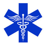 Caduceus - medical  icon Royalty Free Stock Image