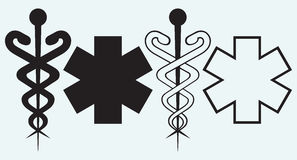 Caduceus. Medical sign Royalty Free Stock Image
