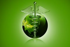Caduceus Medical Symbol Royalty Free Stock Photography