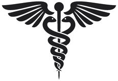 Caduceus medical symbol. Symbol of pharmacy, pharmacy snake symbol Royalty Free Stock Photo