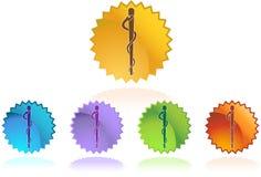 Caduceus Medical Symbol - 5 single Royalty Free Stock Photography