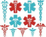 Caduceus medical symbol Royalty Free Stock Image