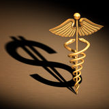 Caduceus Medical Symbol chrome Royalty Free Stock Image