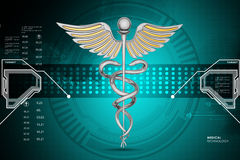 Caduceus medical symbol Royalty Free Stock Images