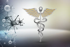 Caduceus medical symbol Stock Image