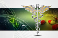 Caduceus medical symbol Stock Photos