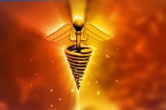 Caduceus medical symbol. 3d render of caduceus medical symbol Royalty Free Stock Photo