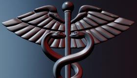 Caduceus - medical symbol, 3d render. Medical 3d render symbol, Caduceus Royalty Free Stock Images