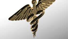 Caduceus - medical symbol, 3d render. Medical 3d render symbol, Caduceus Stock Photo