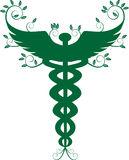 Caduceus Medical Symbol - Green Royalty Free Stock Photography