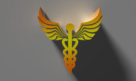 Caduceus medical symbol Stock Images