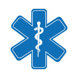 caduceus medical symbol isolated icon design Royalty Free Stock Photography
