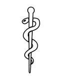 caduceus medical symbol isolated icon design Stock Image