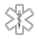 caduceus medical symbol isolated icon design Stock Photo