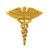 Caduceus Medical Symbol. Isolated on white background. 3D render Stock Photo