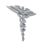 Caduceus Medical Symbol. Isolated on white background. 3D render Royalty Free Stock Photo