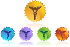 Caduceus Medical Symbol - Set of 5 Stock Image