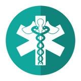 Caduceus medicine care symbol shadow Royalty Free Stock Photo