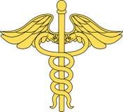 Caduceus medisch symbool stock illustratie