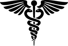 Caduceus medisch symbool Stock Foto