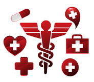 Caduceus pharmacy Royalty Free Stock Image