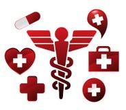 Caduceus pharmacy royalty free illustration