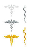 Caduceus, set Royalty Free Stock Photos