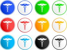 Caduceus sign icons Royalty Free Stock Image