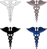 Caduceus signs Royalty Free Stock Photos