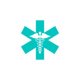 Caduceus solid icon, Medicine and health sign. Vector graphics, colorful linear flat pattern on a white background, eps 10 Stock Photography
