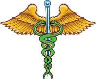 Caduceus the symbol of healing Royalty Free Stock Photo