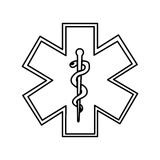 Caduceus symbol isolated icon Royalty Free Stock Photo