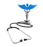 Caduceus Symbol and Stethoscope Stock Images