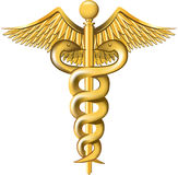 Caduceus on the white background. Royalty Free Stock Photos
