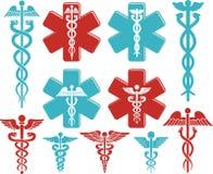 caduceusclippingen innehåller medicinskt banasymbol för digital illustration Royaltyfri Bild